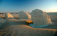 The White Desert is an important geographic attraction located in Western Egypt.