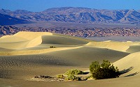 Death Valley, a desert located in the southwestern United States, features the lowest, driest, and hottest locations in North America.
