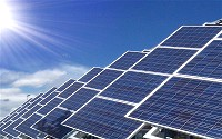 Sunlight can be converted directly into electricity using photovoltaic solar cells.