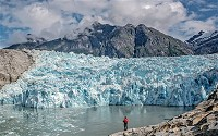 Glaciers are perennial rivers of ice which move over land.